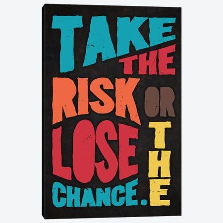 Take The Risk Canvas Print #DUR297} by Durro Art Canvas Print