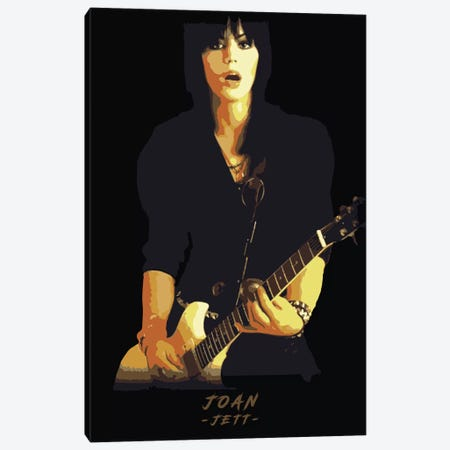 Joan Jett 3-Piece Canvas #DUR303} by Durro Art Canvas Artwork
