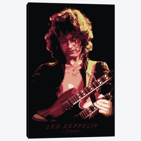 Led Zeppelin Jimmy 3-Piece Canvas #DUR304} by Durro Art Art Print