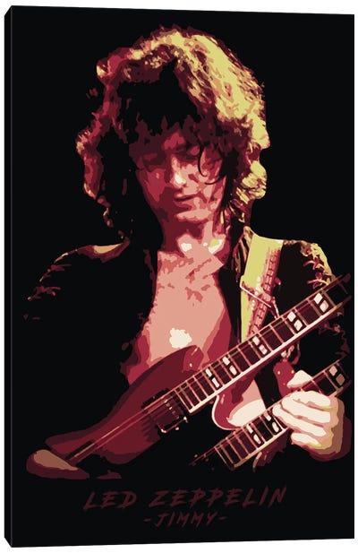 Led Zeppelin Jimmy Canvas Art Print