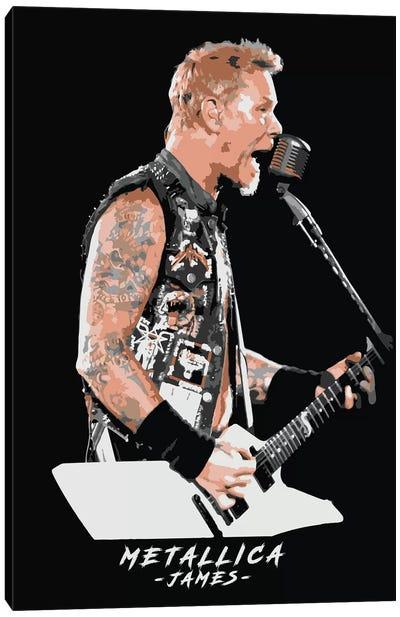 Metallica James Canvas Art Print