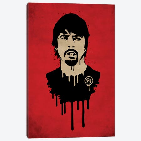 Foo Fighter Canvas Print #DUR30} by Durro Art Canvas Art Print