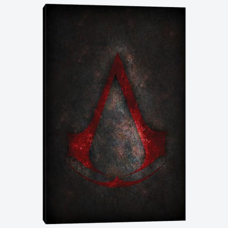 Assassins Creed Red Canvas Print #DUR310} by Durro Art Canvas Print