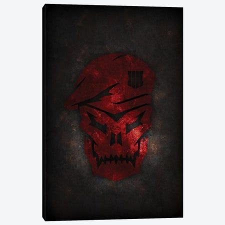 Black Ops Red Canvas Print #DUR312} by Durro Art Canvas Print