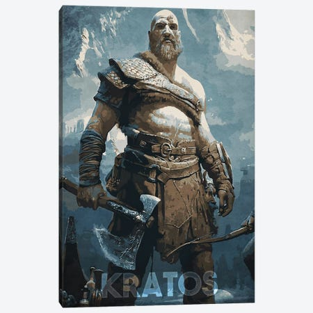 Kratos Canvas Print #DUR323} by Durro Art Canvas Wall Art