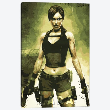 Lara Croft Canvas Print #DUR324} by Durro Art Art Print
