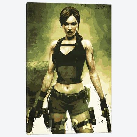 Lara Croft Canvas Print #DUR324} by Durro Art Art Print