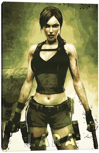 Lara Croft Canvas Art Print