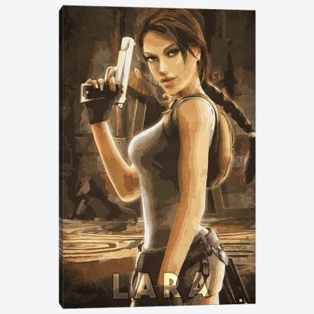 Lara Tomb Raider Canvas Print #DUR326} by Durro Art Art Print