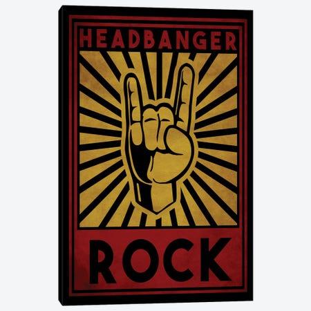 Headbanger Canvas Print #DUR32} by Durro Art Art Print