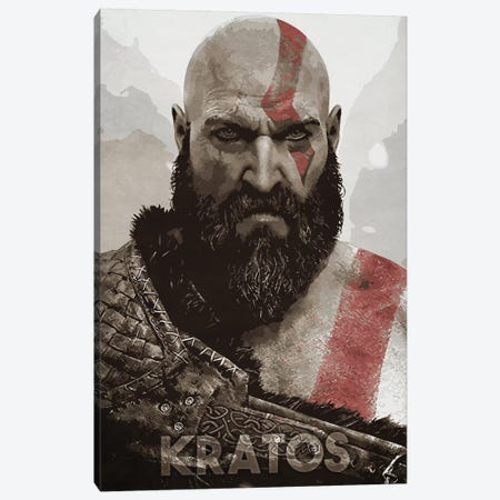 Kratos Close-Up Canvas Print #DUR338} by Durro Art Art Print