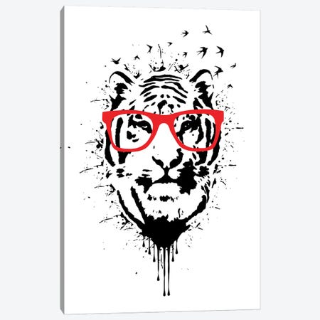 Hipster White Canvas Print #DUR33} by Durro Art Canvas Art Print