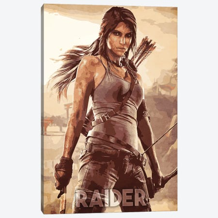 Raider Canvas Print #DUR340} by Durro Art Canvas Art