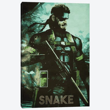 Solid Snake Canvas Print #DUR342} by Durro Art Canvas Art