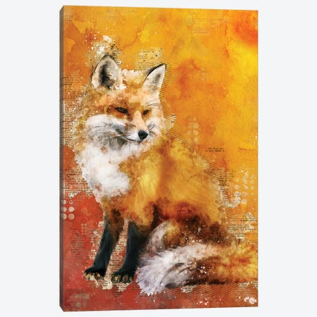 Fox Red 3-Piece Canvas #DUR344} by Durro Art Canvas Art Print