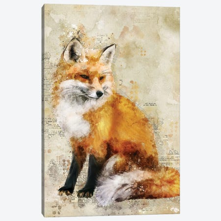 Fox 3-Piece Canvas #DUR345} by Durro Art Canvas Art Print