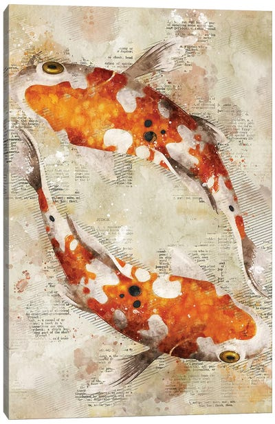 Koi Fishes Canvas Art Print