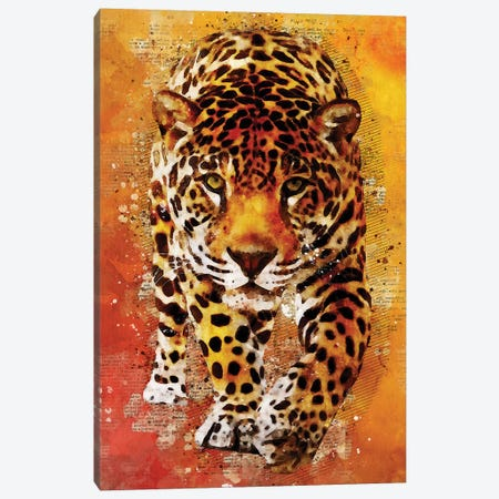 Leopard Wild Canvas Print #DUR349} by Durro Art Canvas Art