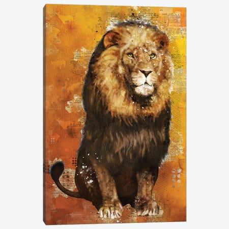 Lion Wild Canvas Print #DUR351} by Durro Art Canvas Print