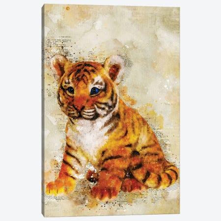 Tiger Canvas Print #DUR353} by Durro Art Canvas Print