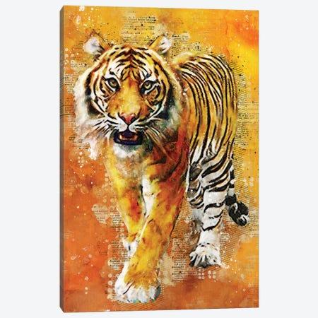 Tiger Wild Canvas Print #DUR354} by Durro Art Canvas Art