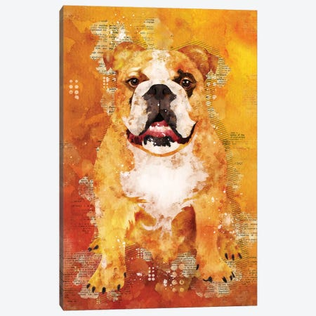Boxer Dog Wild Canvas Print #DUR356} by Durro Art Canvas Artwork