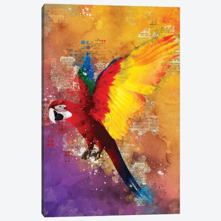 Parrot Canvas Print #DUR359} by Durro Art Canvas Art Print