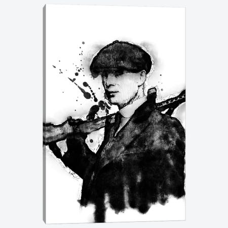Tommy Shelby Canvas Print #DUR364} by Durro Art Art Print