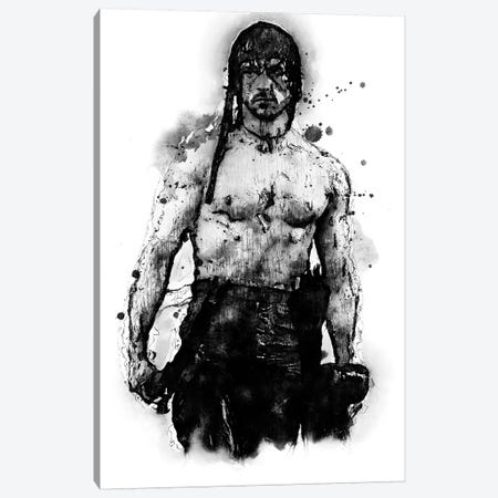 Rambo Soldier Canvas Print #DUR366} by Durro Art Art Print