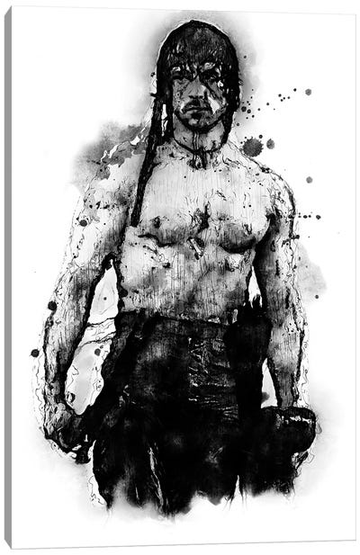Rambo Soldier Canvas Art Print