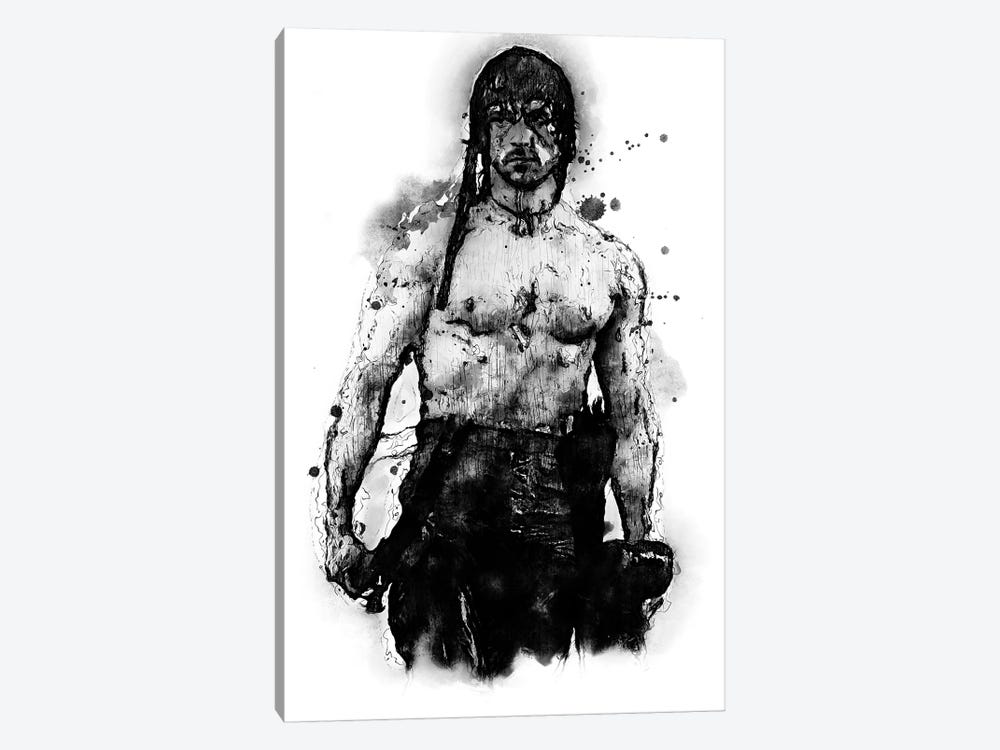 Rambo Soldier by Durro Art 1-piece Canvas Artwork
