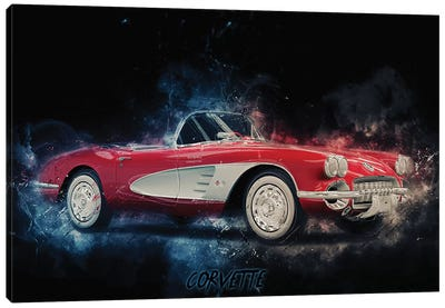 Corvette Canvas Art Print