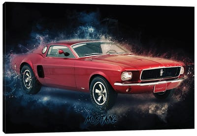 Mustang by Durro Art Canvas Art Print