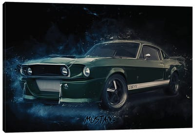 Mustang Eleanor by Durro Art Canvas Art Print