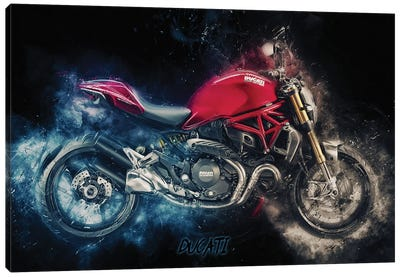 Ducati Monster by Durro Art Canvas Art Print