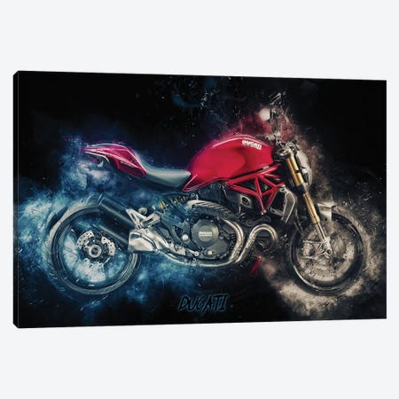 Ducati Monster 3-Piece Canvas #DUR372} by Durro Art Canvas Print
