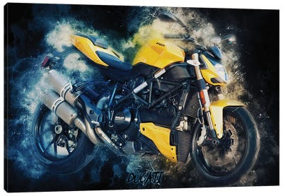 Ducati Streetfighter by Durro Art Canvas Art Print
