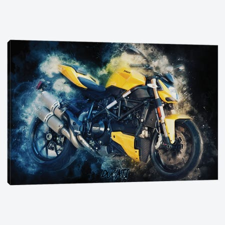 Ducati Streetfighter 3-Piece Canvas #DUR373} by Durro Art Canvas Art Print