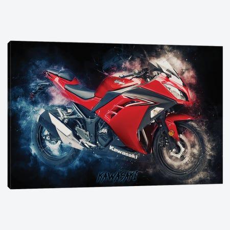 Kawasaki Ninja Canvas Print #DUR376} by Durro Art Canvas Wall Art