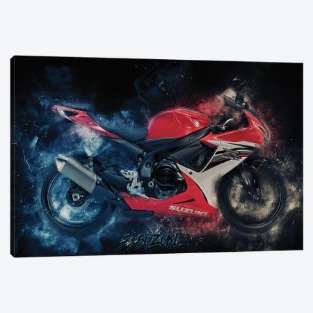 Suzuki Gsx Red Canvas Print #DUR378} by Durro Art Canvas Print