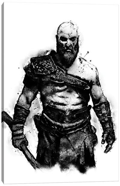 Kratos the God by Durro Art Canvas Art Print