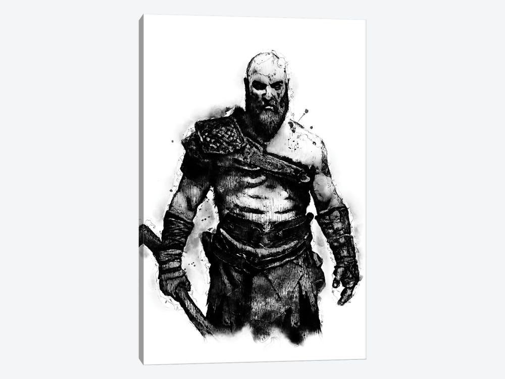 Kratos the God by Durro Art 1-piece Canvas Wall Art
