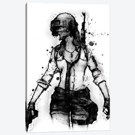PUBG Girl0 Canvas Print #DUR388} by Durro Art Canvas Artwork