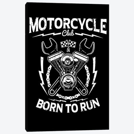 Motorcycle Club Canvas Print #DUR38} by Durro Art Canvas Art Print
