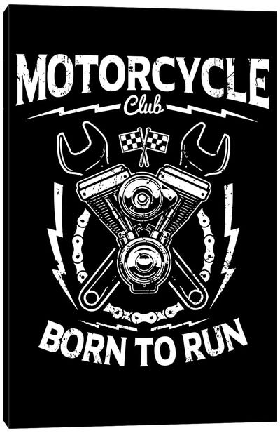 Motorcycle Club Canvas Art Print