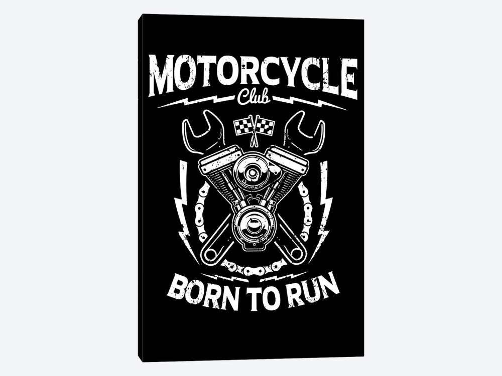 Motorcycle Club by Durro Art 1-piece Canvas Art