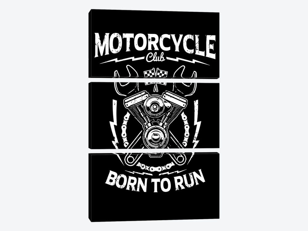 Motorcycle Club by Durro Art 3-piece Canvas Artwork