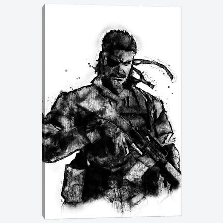 Solid Snake I Canvas Print #DUR390} by Durro Art Art Print