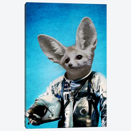 Captain Fennec Canvas Print #DUR3} by Durro Art Canvas Art