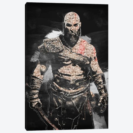 Kratos II Canvas Print #DUR404} by Durro Art Canvas Art